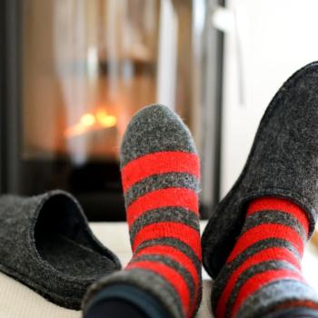 Warme Pantoffeln für Herren